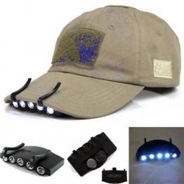 Κλιπ για καπέλο με 5 φωτάκια LED