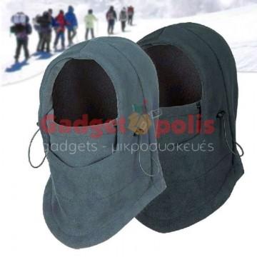 Αντιανεμική Fleece Κουκούλα για τον χειμώνα