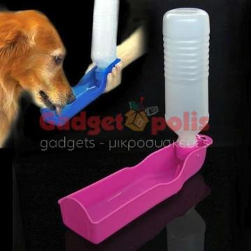 Φορητό μπουκάλι σκύλου ποτίστρα 500ml